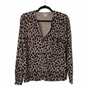 Old Navy | Leopard Button-up Long Sleeve Cardigan